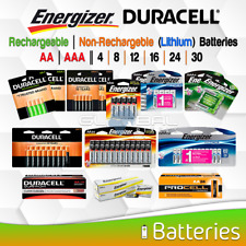 AA AAA Battery Energizer Duracell Rechargeable or Non Rechargeable 4 8 16 24 Lot