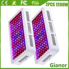 2PCS 1200W LED Grow Light Panel Plants Flower Growing Lamp Oganic Full Spectrum