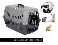 LARGE PET CARRIER CARRY BASKET FOR PUPPY DOG CAT KITTEN RABBIT TRAVEL CAGE CRATE