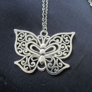 Simple Classic Large Butterfly Pendant & Cross Chain Length of chain 45cm & 60cm