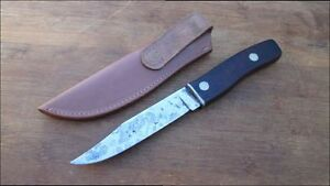 VERY Sharp Beautiful Customized IMPERIAL USA Carbon Steel Hunting Knife w/Sheath