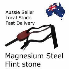 Magnesium Steel Flint Rod Stone - Camping, Hiking, Survival Kit - Aussie Seller