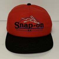Vintage Snap On Tools K Products Red Snap Back Trucker Hat Made In USA EUC