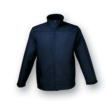 New Mens Soft Shell Jacket Coat Vertical Zip Chest Pocket and Side Zip Pockets