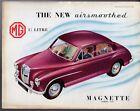 MG Magnette ZA 1953-55 UK Market Foldout Sales Brochure