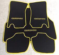 Autoteppich Fußmatten Kofferraum Set Ford Capri 2 - 3 schwarz gelb 5tlg. Neuware