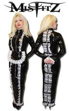 MISFITZ BLACK PVC HOBBLE  STRAIT JACKET PADLOCK MAIDS DRESS SIZES 8-32 / CUSTOM