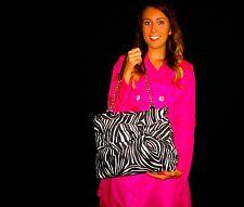Kate Spade NY Nylon Esther Handbag Clutch Retail $325 ZEBRA LARGE BOW PURSE