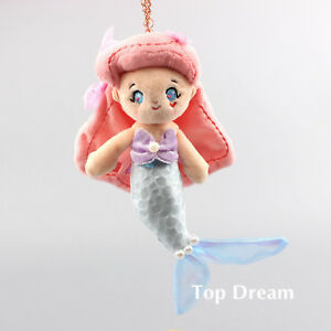 The Little Mermaid Princess Ariel Plush Toy Stuffed Fluffy Doll Keychain Keyring