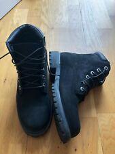 Mens Black Timberland Boots Size UK 6.5
