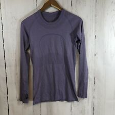 Lululemon Run Swiftly Tech Purple Long Sleeve Athletic Shirt Top Size 6