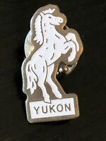 Collectible Vintage Yukon Horse Colorful Metal Pinback Hat Pin Lapel Pin