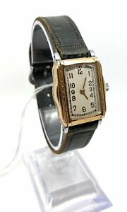 A Working Vintage Art Deco Mechanical Two Tone Wrist Watch