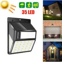 35LED Outdoor Solar Lights Motion Sensor Wall Light Waterproof Garden Yard Lamp