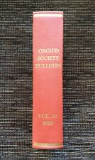 RARE VINTAGE 1963 American Orchid Society Bulletin 12 Issues Vol 32: Hardcover