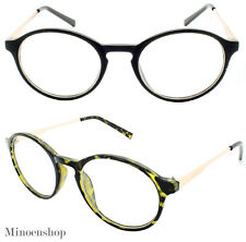 Oval De Estilo Vintage y Retro Lente Claro Ojo Gafas hipster nerd P3 Smart Redondo euro Fresco
