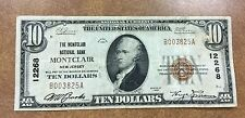 {BJSTAMPS} 1929 National Currency $10 Montclair New Jersey Bank #12268 VF