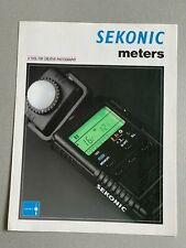 Sekonic Meters, A4 Paper Brochure, 3 Page Fold Out, 1992