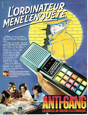 PUBLICITE ADVERTISING 036  1980  Micro Meccano jeux Anti-gang détéctive éléctron