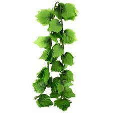 Artificial Grape Leaf Garland Plants Vine Fake Foliage Flower Home Decoration.