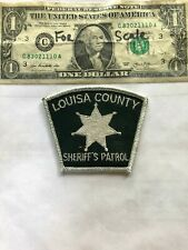 Rare Louisa County Iowa Police Patch (Sheriff's Patrol) Un-sewn great shape