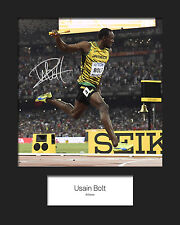 USAIN BOLT #1 Signed 10x8 Mounted Photo Print - FREE DELIVERY