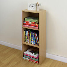 3 Tier Wooden Beech Cube Bookcase Storage Display Unit Modular Shelving/Shelves