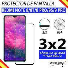 Protector Pantalla Xiaomi Redmi Note 8/8T/8 Pro/9S/9 Pro Cristal Templado 3D