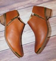 Lucky Brand Koben Booties Whisky Colored Size 8. New.