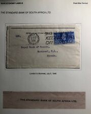 1946 London England Commercial War Economy Label Cover To Royal Bank Of Canada