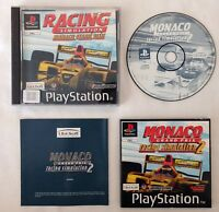 Rare PS1 Playstation F1 Car Racing SIM Monaco Grand Prix 2 Game Manual Complete