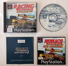 RARE PS1 Playstation F1 Car Racing SIM Monaco Grand Prix 2 GAME MANUAL COMPLETE