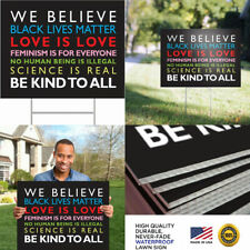 Signs of Justice We Believe Yard Sign, Weather Proof and Double Sided,.
