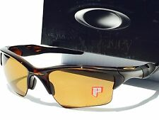 NEW* Oakley Half Jacket 2.0 POLARIZED Bronze Golf Lens Rootbeer Sunglass 9154-08