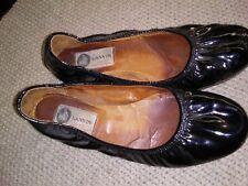 Vintage Black  Patent Leather Ballet Style Flats by Lanvin Size 6-6.5