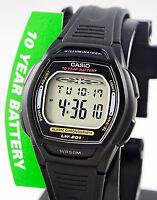 Casio Ladies Black Dual Time Digital Sports Watch 10 Year Battery LW-201-1AV New
