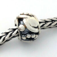 Authentic TROLLBEADS Retired ART DECO 11222 New Silver Charm Bead