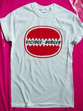 Sid Vicious punk rock Vicious Burger logo t-shirt seditionaries Sex Pistols