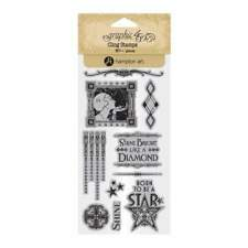 Graphic 45 Cling Stamps – Vintage Hollywood 2 - 10 Stamp Set New