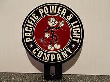 PACIFIC POWER & LIGHT Reddy Kilowatt Plate Topper ELECTRICIAN GIFT