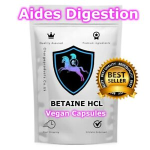 Betaine HCL Capsules Caps 600mg Digestion Digestive Enzymes Thyroid Liver Ear