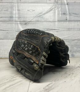 """Easton 12"""" Black And Orange Youth Baseball Glove. Right Hand Throwing"""
