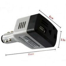 Chargeur puissance convertisseur voiture DC 12v/24v vers AC 220v + USB CC