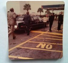 Vintage 70s Photo VIP Arriving To Luxury Hotel In Towncar Security Guards Safety