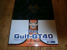 Scalextric/Fly Ford Gt-GT40 'equipo Golfo-GT 40 Rareza firmado por Eric brodley Nuevo Y En Caja