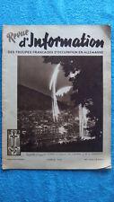 REVUE D'INFORMATION DES TROUPES FRANCAISES D'OCCUPATION EN ALLEMAGNE N° 46 -1949