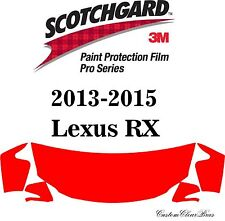 3M Scotchgard Paint Protection Film Pro Series Pre-Cut 2013 2014 2015 Lexus RX