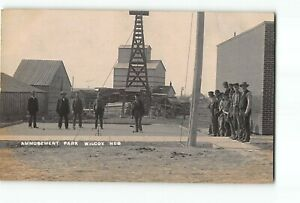 Wilcox Nebraska NE RPPC Real Photo 1910 Amusement Park