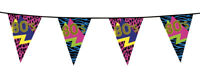 Années 80 guirlande de fanions fête soirée déguisée ambiance disco décoration 6m