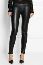 NWOT Helmut Lang 'Plonge' Stretch Genuine Leather Leggings - Black - Sz 8 - $920